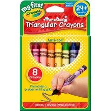 Washable Triangular Crayon (8 Count) (Set of 8)