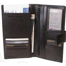 <strong>Bond Street, LTD.</strong> Passport and Airline Case with Tab Closure - Travel Wallet