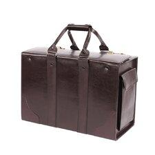 Double Handle Catalog Case Leather Laptop Briefcase