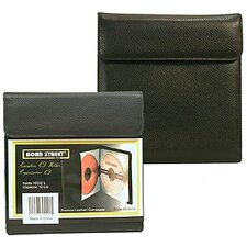 <strong>Bond Street, LTD.</strong> Premium Leather CD DVD Holder Portable Case