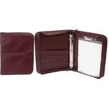 Leather-Look Letter Size Zippered Padfolio