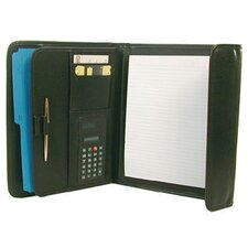 <strong>Bond Street, LTD.</strong> Flap-Over Koskin Writing Case with Built in Calculator