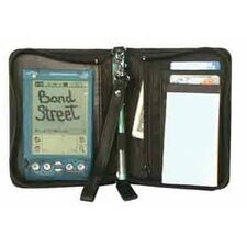 Luxurious JDD Leather Zippered PDA Case with Jotter
