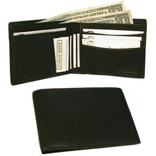 Executive Slim Leather Billfold Wallet