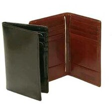 Hand Stained Italian Leather Business Card Caddy Wallet