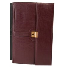 Leather-Look Legal Size Key Lockable Underarm Writing Case