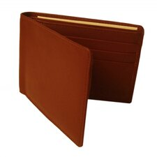 Executive Calf Leather Slim Billfold Wallet