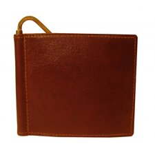 Glazed Cow Hide Leather Slim Money Bill Clip Wallet