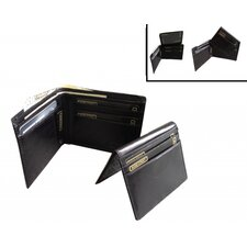 Italian Leather Billfold Wallet with Removable Passcase