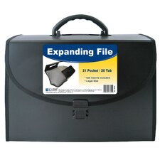 """11"""" H x 8.5"""" W 21 Pocket Expanding File with Handle"""