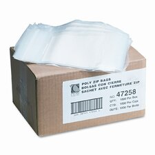 Write-On Recloseable Small Parts Bags, Poly, 5 X 8 (1000/Carton)