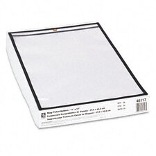 Stitched Both Sides Clear Shop Ticket Holders, 11 X 17 (25/Box)