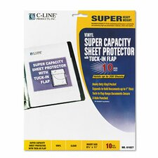Letter Super Capacity Sheet Protector with Tuck-In Flap (10/Pack)