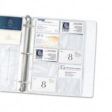 Business Card Binder Pages with Holds 20 Cards (10/Pack)