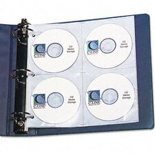 Standard Deluxe Cd Ring Binder Storage Pages with Stores 8 Cds, (5/Pack)