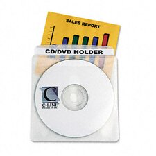 <strong>C-Line Products, Inc.</strong> Deluxe Individual Cd/Dvd Holders (50/Box)