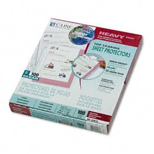 Antimicrobial Hvywt Poly Sht Protector with Top-Loading (100/Box)