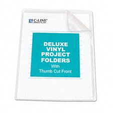 Deluxe Project Folders, Jacket, Letter, Vinyl, 50/Box