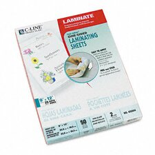 <strong>C-Line Products, Inc.</strong> Cleer Adheer Nonglare Laminating Film (50/Box)
