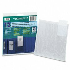 Self-Adhesive Ring Binder Label Holders, 2 1/4 X 3 (12/Pack)