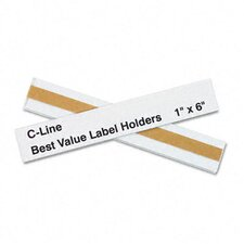 <strong>C-Line Products, Inc.</strong> Label Holders, 6 X 1 (50/Pack)