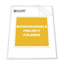 Biodegradable Project Folders, Polypropylene, Letter Size, 5/Pack