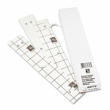 Self-Adhesive Pre-Punched Binder Strips, 1 x 11, 200/Box