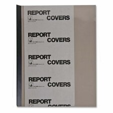 Report Covers, w/ Binding Bars, 50/BX, Smoke Vinyl