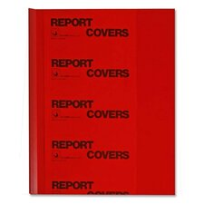 Report Covers w/ Binding Bars, w/ Binding Bars, 50/BX, Red Vinyl