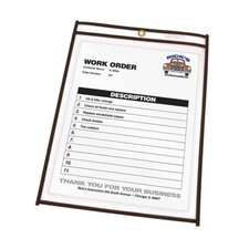"<strong>C-Line Products, Inc.</strong> Shop Ticket Holder, Stitched, 4""x6"", 25 per Box, Clear Vinyl"