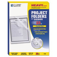 Project Folder with Dividers (25 Pack)