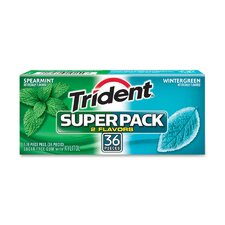 <strong>Cadbury Adams</strong> Trident Super Pack Gum (Set of 8)