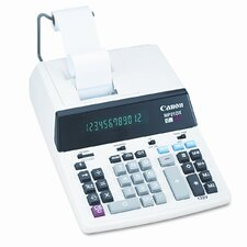MP21DX Desktop Calculator, 12-Digit Fluorescent, Two-Color Printing