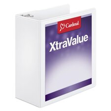 "XtraValue 4"" ClearVue Slant D Ring Binder (Set of 6)"