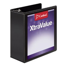 XtraValue ClearVue Slant D Ring Binder (Set of 6)