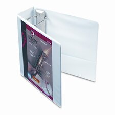 "Recycled Clearvue EasyOpen Vinyl D-Ring Presentation Binder, 4"" Cap"