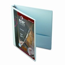 "Easyopen Clearvue Locking Round Ring Binder, 1"" Capacity"