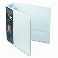 Spinevue Round Ring View Binder, 3in Capacity, White