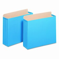 "3 1/2"" Expansion File Cabinet Pockets, Straight, Letter, Blue"