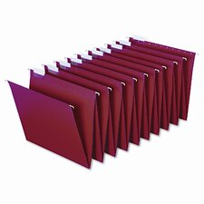 <strong>Cardinal Brands, Inc</strong> Hanging Accordion Folders, Letter Size, Red, 2 Sets of 10 Each Per Box