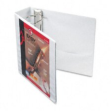 "Recycled Clearvue EasyOpen Vinyl D-Ring Presentation Binder, 3"" Capacity"