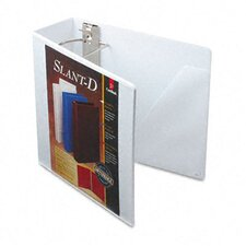 Clearvue Premium Slant-D Vinyl Presentation Binder, 4in Capacity