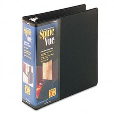 Spinevue Round Ring View Binder, 3in Capacity
