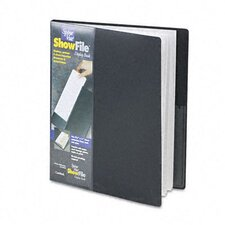 Spinevue Showfile Display Book with Wrap Pocket, 24 Letter-Size Sleeves