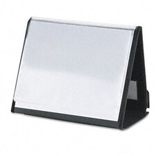 ShowFile Horizontal Display Easel with 20 Letter-Size Sleeves, Black