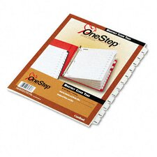 Traditional Onestep Index System, 12-Tab, Months, Letter (Set of 12)