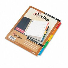 Traditional Onestep Index System, 5-Tab, 1-5, Letter (Set of 5)
