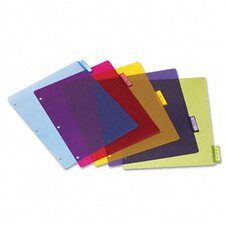 Poly Index Dividers, 4 Sets/Pack, 5-Tabs/Set, 4 Sets/Pack