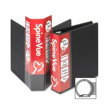 "<strong>Cardinal Brands, Inc</strong> Vinyl SpineVue Ring Binder, 3"" Capacity, 11""x8-1/2"", Black"
