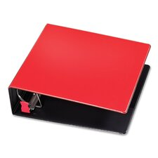 "D-Ring Binder, 3"" Capacity, 11""x8-1/2"", Red"